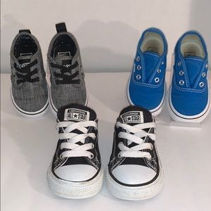 Toddler Shoes Bundle of Vans and 1 Pair Converse